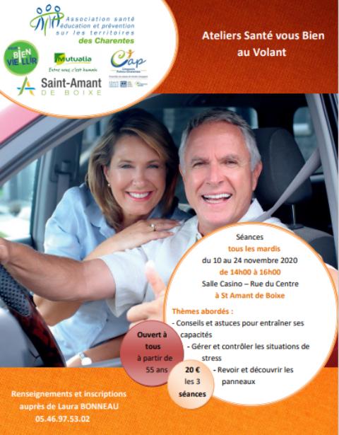 Les ateliers « santé vous bien au volant » Soyez serein en conduisant
